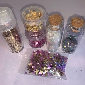 Other - Pink silver and gold unicorn glitter